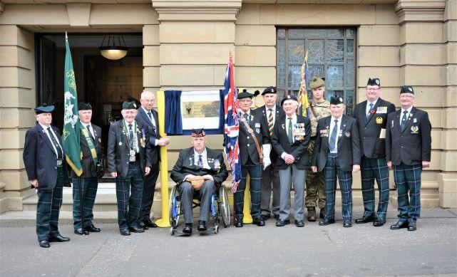 Lanark Memorial Hall – Unveiling of War Memorial Plaque