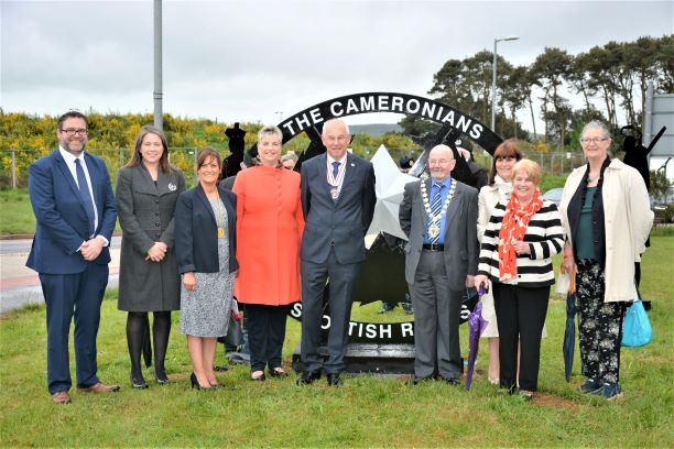 Unveiling of Cameronian Sculptures at Lanark
